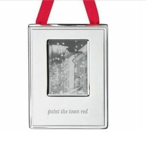 NEW Kate Spade ornament frame paint the town red